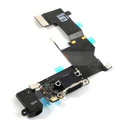 iPhone 5S Laddport och Hörlursuttag Flex Kabel (Svart)