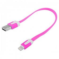iPhone 5 Kort USB Kabel 20cm (Rosa)