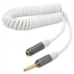 Flexibel Kabel 3.5mm Hane till Hona (Vit)