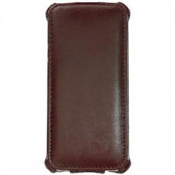 Addual Flip Plånbok iPhone 5/5S (Mörk Brun)