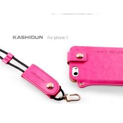 Kashidun iPhone 5/5S Plånbok (Rosa)