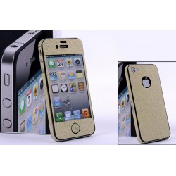 iPhone 5 Glitter Skärmskydd (Gold)