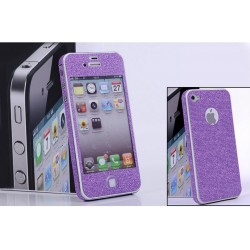 iPhone 5 Glitter Skärmskydd (Lila)