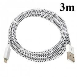 iPhone 5/5S/5C USB Kabel Snöret 3M (Vit)