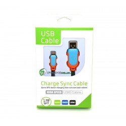 iPhone 5/5S/5C High Speed USB Kabel (Blå)