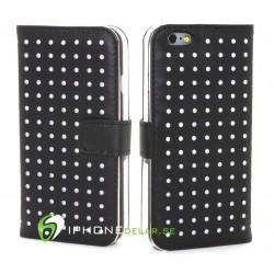 iPhone 6 Plånbok Dots Vit