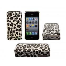 iPhone 4/4S serie Leopard (Svart)