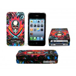iPhone 4/4S serie ED Hardy - Burning Skull