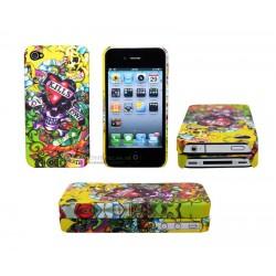 iPhone 4/4S serie ED Hardy - Love Kills Slowly (Gul)