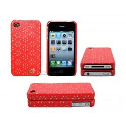 iPhone 4 serie Snowflakes (Röd)