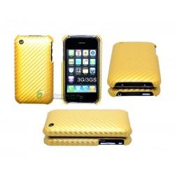iPhone 3G/GS serie Kolfiber (Guld)