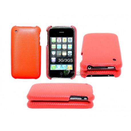 iPhone 3G/GS serie Kolfiber (Röd)