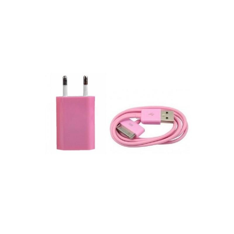 Splitter nya iPhone iPod iPad USB-laddare (Rosa) - iPhonedelar.se UU-99
